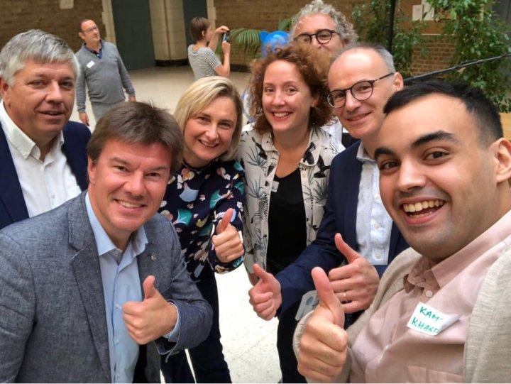 selfie met 3 ministers